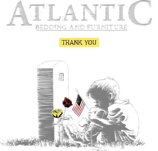 Thank you from Atlantic Bedding and Furniture Charlotte NC http