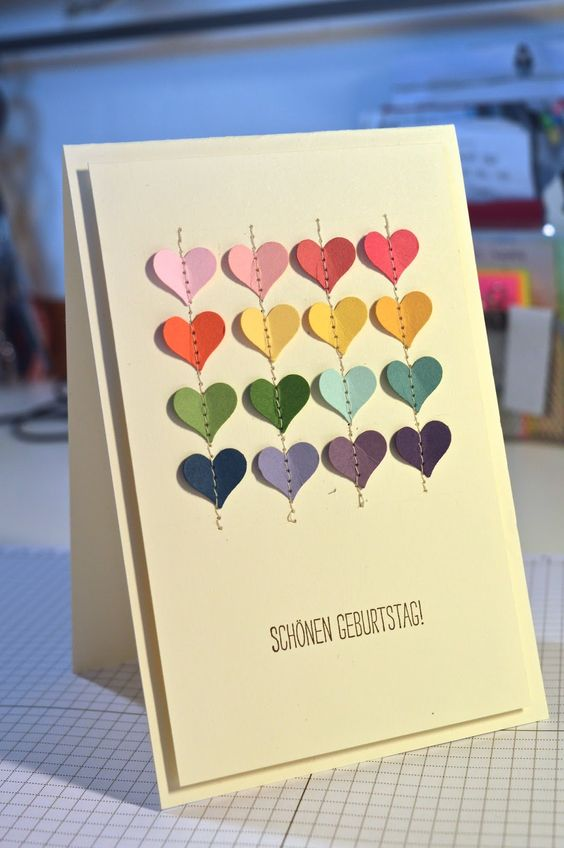 Pixie Scrap: jede Menge Herz - Geburtstagskarte