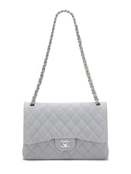prada vernice bag - Chanel Light Blue Quilted Caviar Leather Jumbo Classic 2.55 Double ...