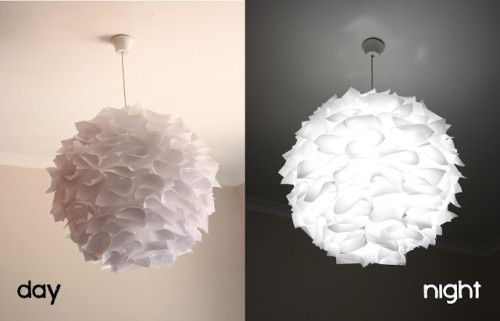 Easy DIY: Embellished Rice Paper Shade