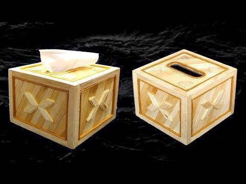 How To Make Tissue Box With Ice Cream Sticks Popsicle Stick