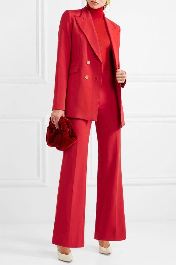 Gabriela Hearst Blazer, Sweater & Pants, The Row Bag
