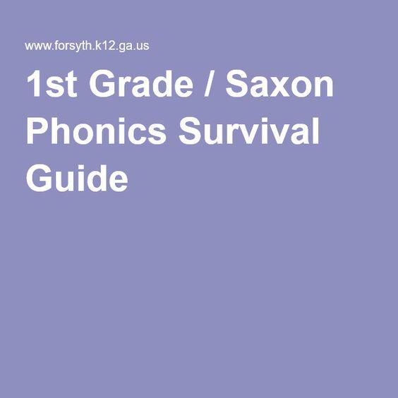 1st Grade / Saxon Phonics Survival Guide