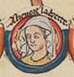 Eleanor Plantagenet, the Pearl of Brittany, 5th Countess of Richmond, eldest daughter of Geoffrey II, Duke of Brittany and  Constance, Duchess of Brittany, and  granddaughter of Henry II and Eleanor of Aquitaine. Potential heiress of England, Brittany, Anjou, and Aquitaine, she was seen as a threat by her uncle, King John, and imprisoned from the age of 18 until she died sometime between her 54th to 58th year--1202 to  c.1241--longest imprisonment of a member of an English royal family.