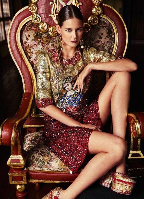 Sicilian Mosaic- Characteristics of D&G clothing.