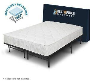 Best Price Mattress 8-Inch Tight Top iCoil Spring Mattress and Metal Platform Bed Frame Set, Queen: Get this Best Price… #coupons #discounts