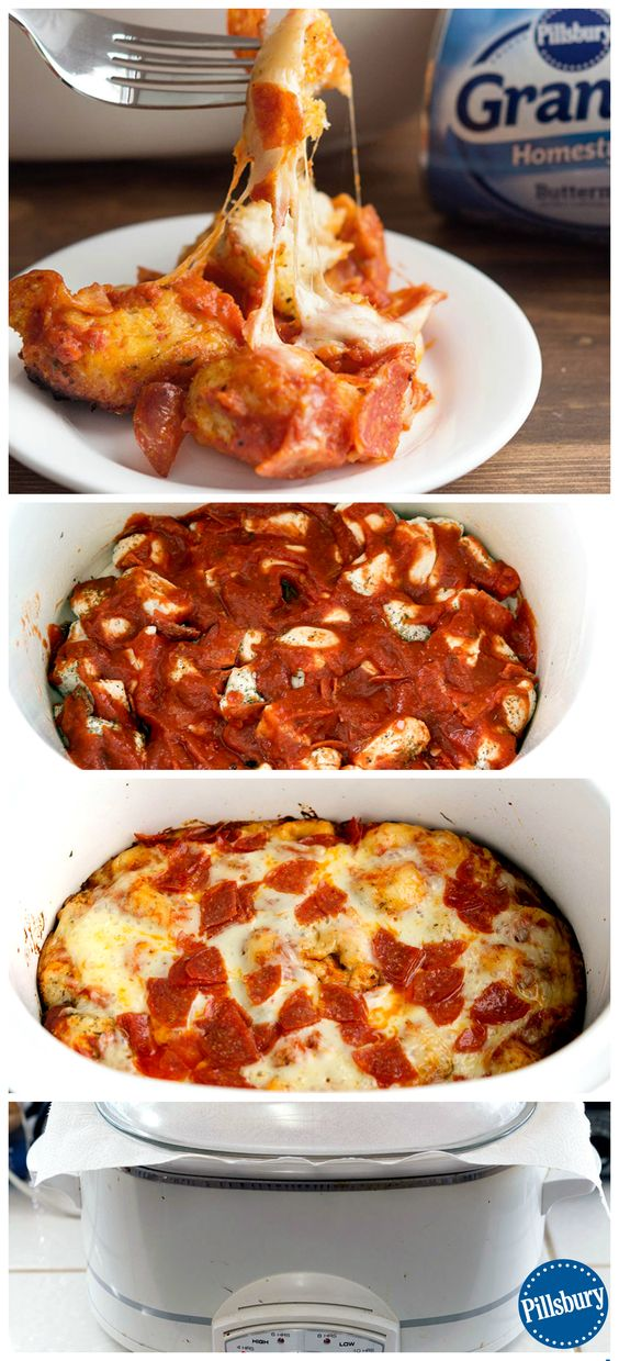 ... Epic Slow-Cooker Pepperoni Pizza Bubble-Up Bake for dinner this week