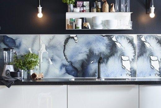 Adesiva mattoni bianco,moderno pannelli decorativi 3d per parete,. Pannelli Retro Cucina Ikea Pannelli Retro Cucina Mondo Convenienza Ikea Kitchen Lysekil Kitchen Design Trends
