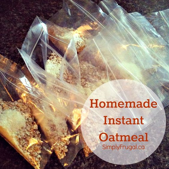 Homemade instant oatmeal, Oatmeal packets and Oatmeal on Pinterest