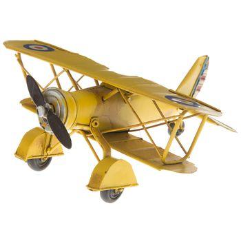 Mini Yellow Metal Biplane