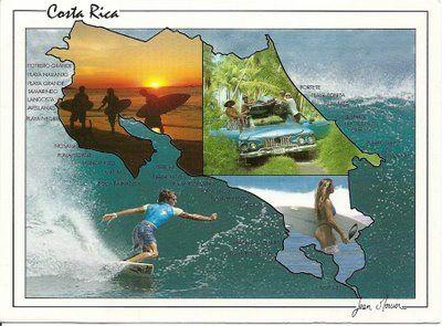 Es una tarjeta postal de Costa Rica. Mandarla a un amigo.