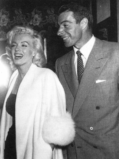 Marilyn Monroe and Joe DiMaggio  Marilyn's 2nd hubby who up to the day he died he would always leave flowers on her grave.