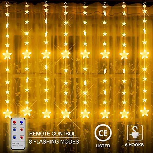 LED Lichtervorhang Lichternetz Warmweiß Lichterkette Weihnachten 300LEDs 3x3M