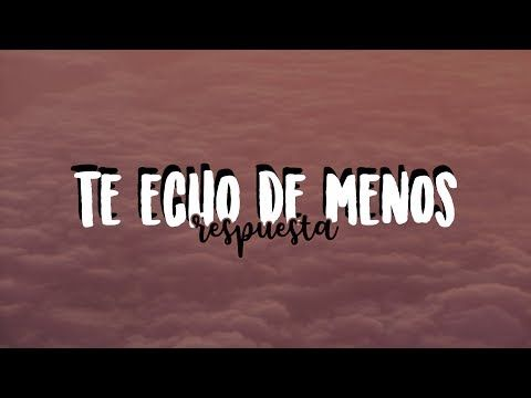 Pin En Te Echo De Menos