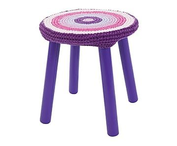 Taburete de madera – púrpura