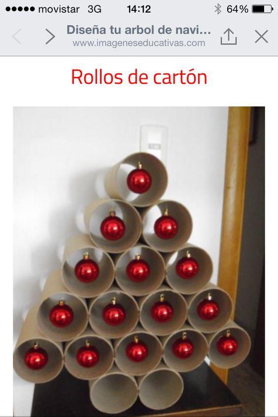 Árbol de Navidad con rollos