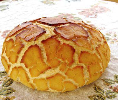 Dutch crunch bread, also known as Tiger bread.