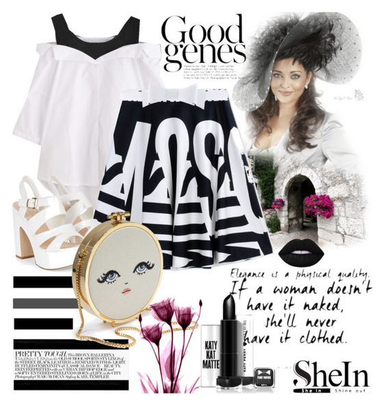 """""""Shein blouse"""" by irinavsl ❤ liked on Polyvore featuring Moschino, Alaïa, WHATEVER and Lime Crime"""