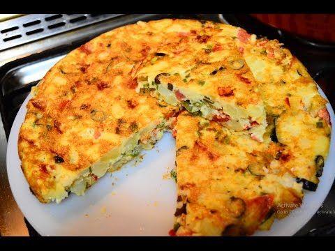 طريقة عمل عجة البطاطس بالبيض و الخضروات سحور رمضان Food Breakfast Cheese Pizza