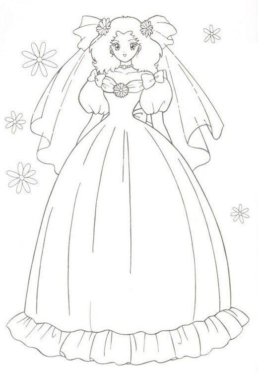 Beautiful Wedding Peach Coloring Picture Sailor Moon Coloring Pages Peach Wedding Coloring Pages For Girls