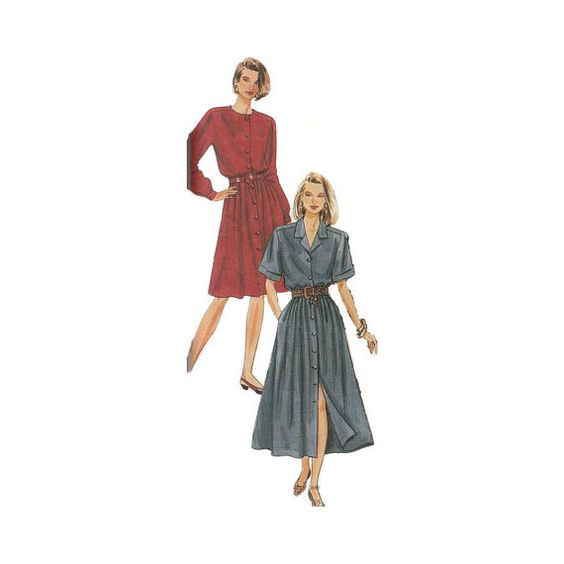 1990s McCall's 6182 Womans' Dress Size 81012  by patternmemories