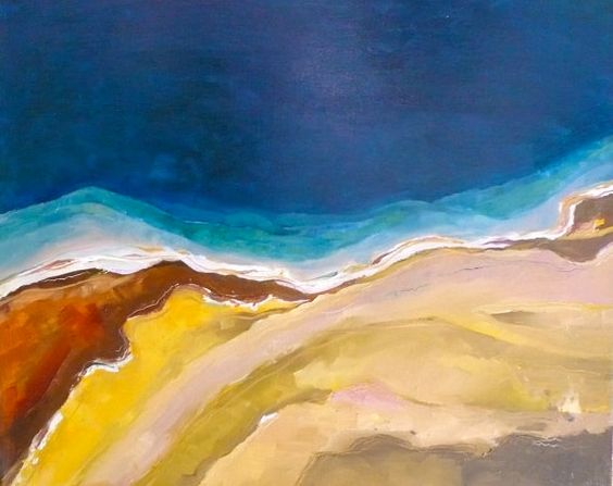 Original Oil Painting of Yellowstone by Jenny Hambleton Conflicting Locations 2