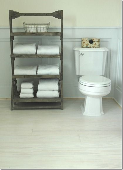 Pallet shelf??? Love! I could place it any where not just the bathroom.