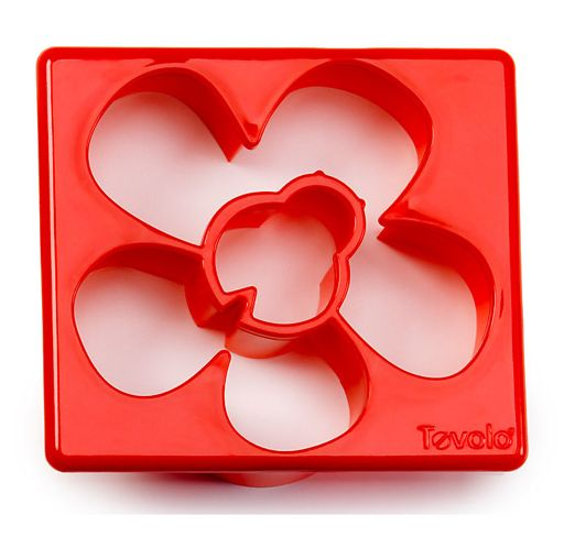 Flower and lady bug sandwich cutter looks nice...