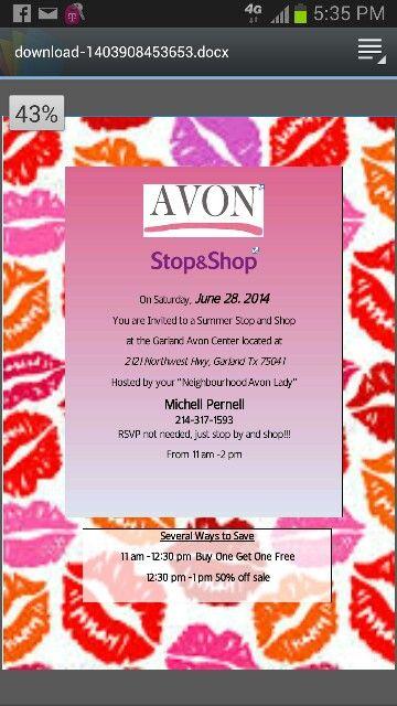 Avon Sales Flyer Template