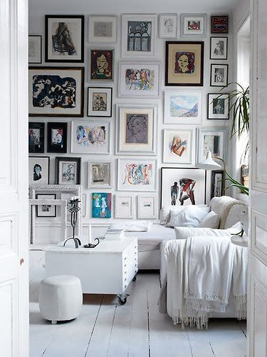 floor to ceiling gallery wall
