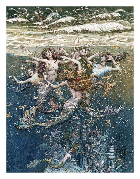 The Little Mermaid. Illustrator Boris Diodorov.