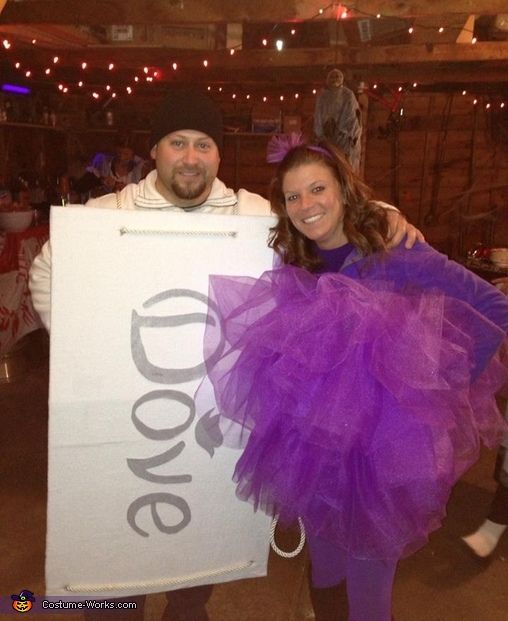 Loofah and Dove Soap Costume Halloween costumes, Dove soap and Couple - mens halloween costume ideas 2013