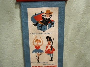 Danish fairytale wall hanging by livvyloo on Etsy