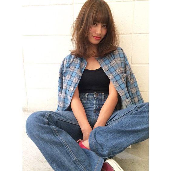 【梨花風☆無造作ミディアム】  HAIR_YUTA  TANEBE  MODEL_CHIHIRO  #shima #shimaplus1 #shima_tanebe #hair #cut #color #medium #casual#fashion #girl #ミディアム