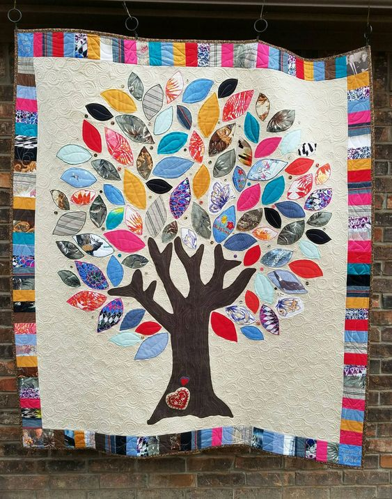 Memory Quilt from family clothes                                                                                                                                                     More