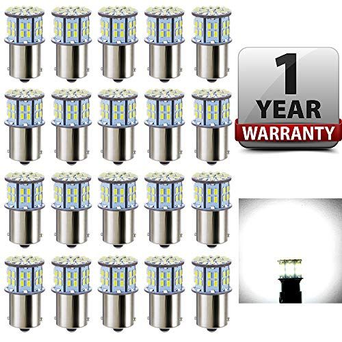Antline 1156 1141 1003 7506 Ba15s Led Bulbs White 20 Packs Super Bright 3014 50 Smd Led Replacement 12 Volt Rv Ca Camper Trailers Rv Campers Interior Lighting