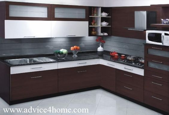 L shaped modular kitchen designs catalogue google search for Kitchen trolley designs catalogue