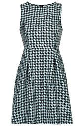 **Checked Wool Mix Madison Tea Dress by Annie Greenabelle