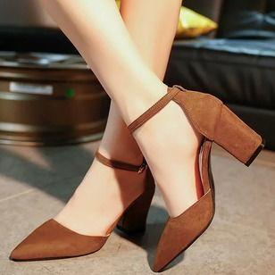 Zapatos Salón De Mujer Tacones Pu Tacón Ancho Zapatos De Tacones Zapatos Mujer Zapatos Elegantes Mujer