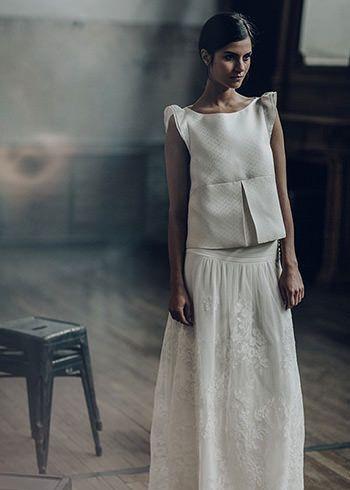 Laure de Sagazan   Robes de mariée   Collection Deux mille seize