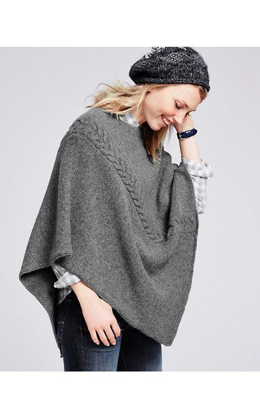 Angled Sweater Cape