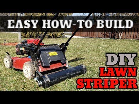 Quick And Easy Diy Lawn Striper Build And It Under 40 Youtube In 2020 Diy Lawn Striper Lawn