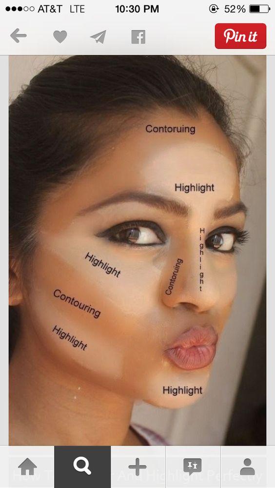 soulignement de contour the face and tutoriels de maquillage on pinterest. Black Bedroom Furniture Sets. Home Design Ideas