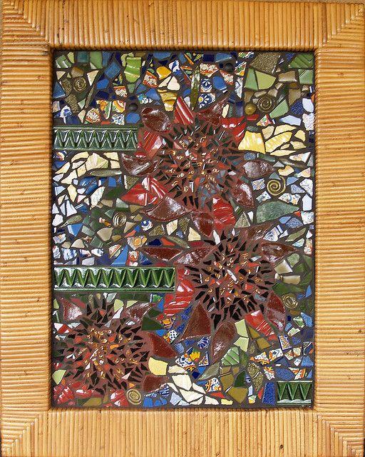 Cane Framed Mosaic by Smashing Mosaics, via Flickr