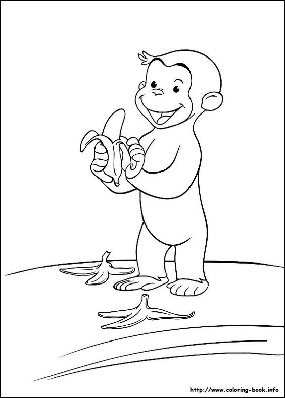 curious george coloring pages birthday - photo#25