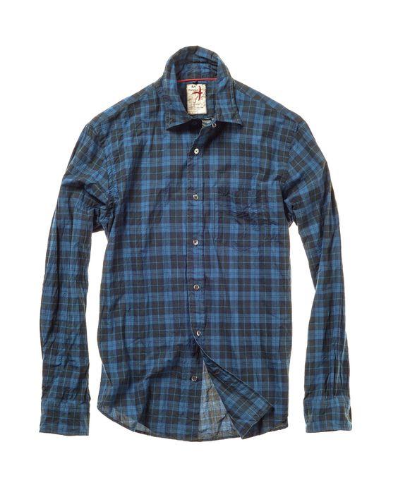 Relwen Blue Airtex Poplin Shirt