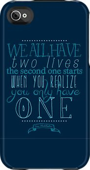 """We all have two lives..."" Hiddleston quote"