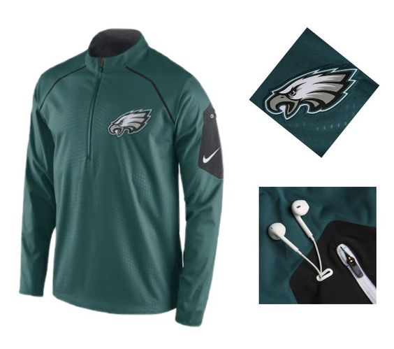 classic fit a1823 b3abd Mens Philadelphia Eagles Nike Midnight Green Alpha Fly Rush ...