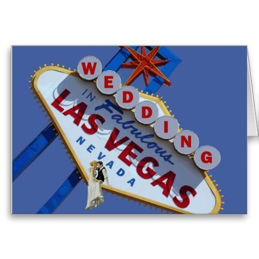 bride and groom sitting on the Fabulous Las Vegas Sign for their Wedding http://www.zazzle.com/wedding_in_fabulous_las_vegas_card-137026166650365974