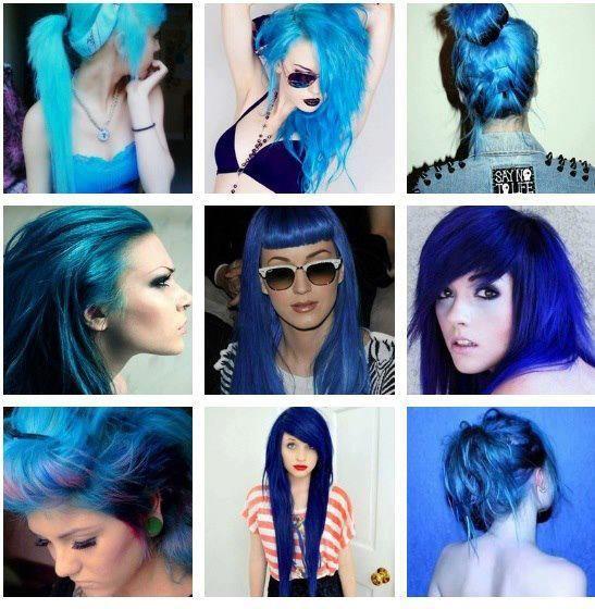 cabello colores fantasia azules , Buscar con Google